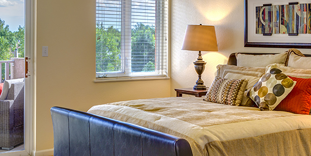 bedroom senior living