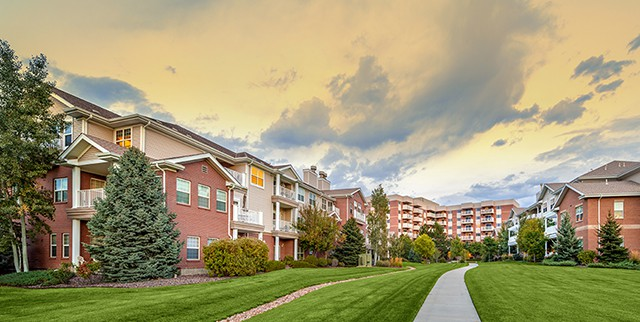 Covenant Living of Colorado campus green grass